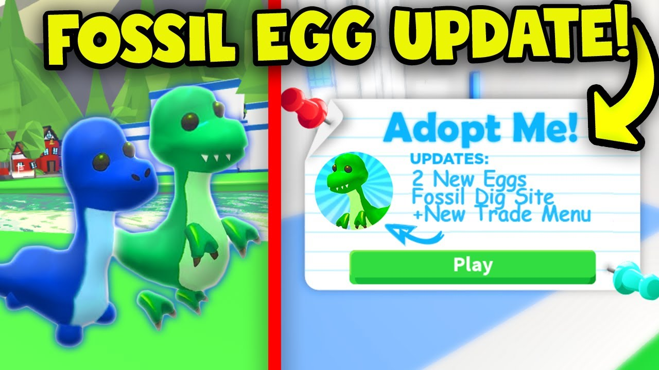 New Fossil Egg Update Release Date New Pets Roblox Youtube