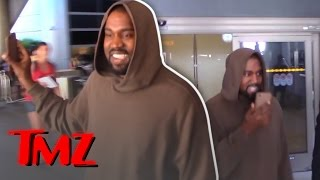 Kanye West Can't Stop Smiling!
