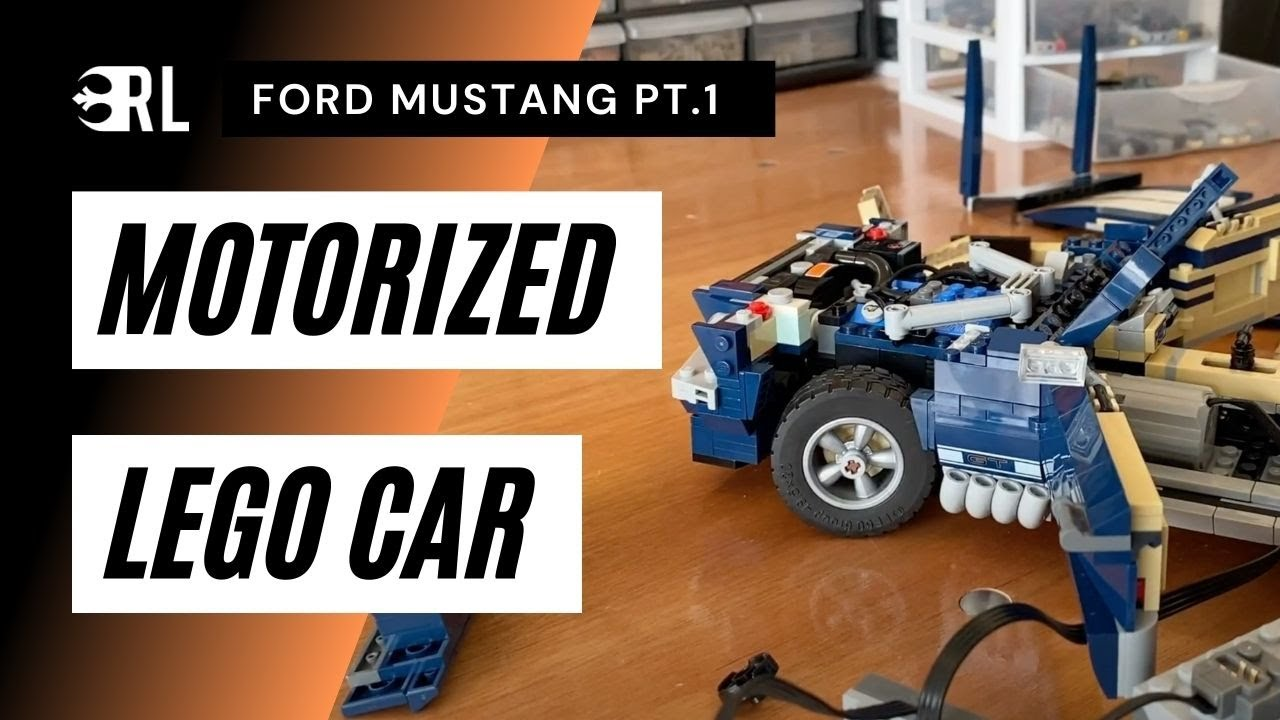 RC LEGO Car! (Ford Mustang Motorization PT. 1)