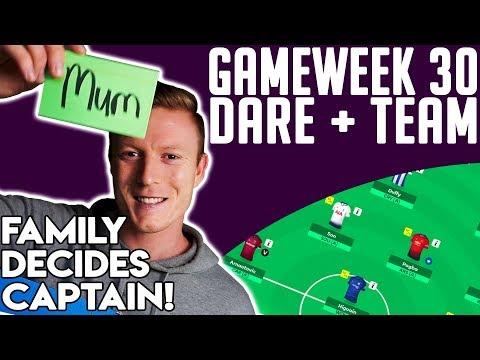 FPL! DGW30 DARE + TEAM PREVIEW!! | FAMILY SHIRT COLOUR = CAPTAIN!! | FPL GAMEWEEK 30 2018/19