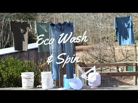 Off  Grid Laundry,~~Washing and Spin Drying (Avalon Bay EcoWash/EcoSpin