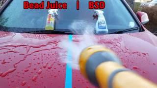 Bouncer's Bead Juice vs Sonax BSD Water Behaviour Test