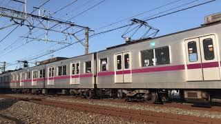 【鉄道動画】武里~一ノ割にて 東京メトロ半蔵門線8000系通過シーン