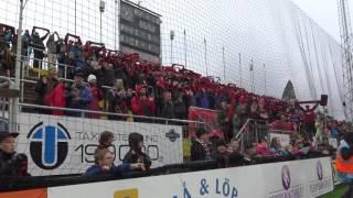 ÖFK firar med fansen efter segern mot Djurgården