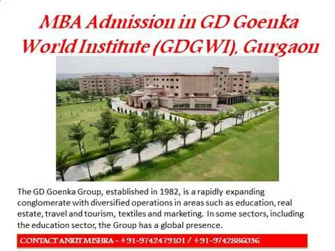 MBA Admission in GD Goenka World Institute, Gurgaon