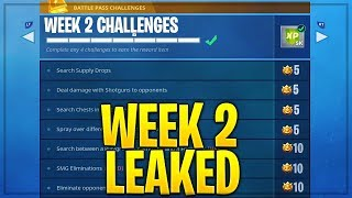 FORTNITE SEASON 5 WEEK 2 CHALLENGES LEAKED! WEEK 2 ALL CHALLENGES EASY GUIDE!