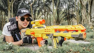 LTT Game Nerf War : Captain Warriors SEAL X Nerf Guns Fight Crime group Braum Crazy One Eye