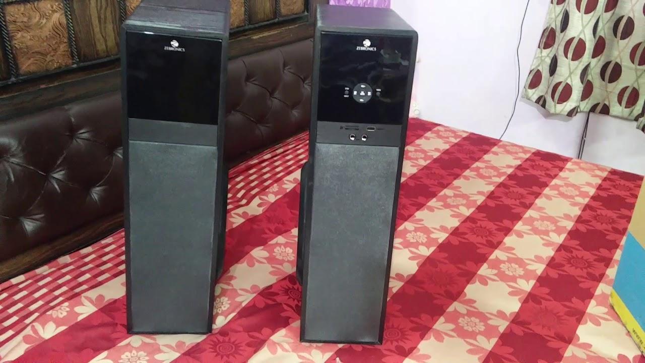 Zebronics ZEB-7600 BT RUCF monster tower speaker in Hindi  (www TulipSmile com \ 9650722798)