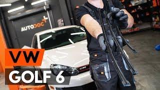 Hvordan bytte Viskerblader VW GOLF VI (5K1) - online gratis video
