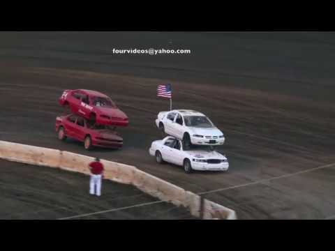 Perris Auto Speedway Double Decker Heat Race Highlights 7-4-19