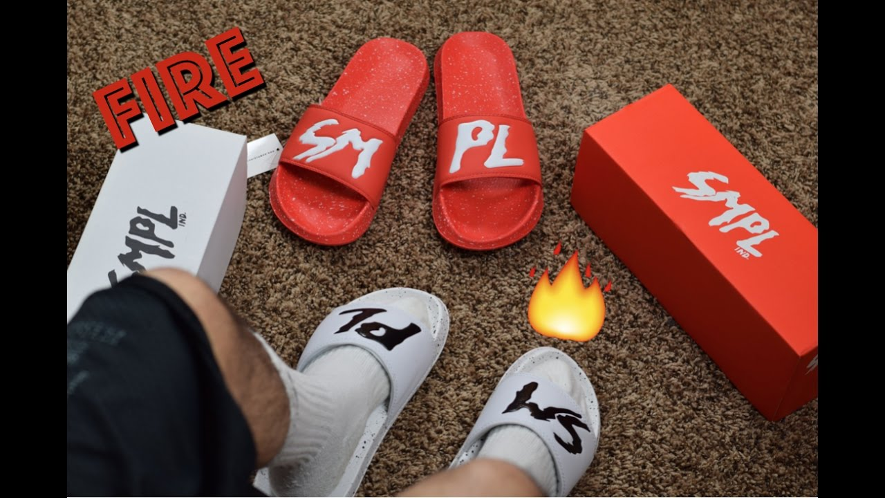 56879369894 SMPL Slides Review (Fire Red) + On-Feet by Meeks Shoes