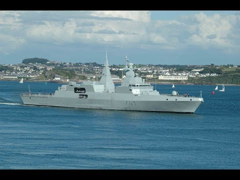 SOUTH AFRICAN NAVY FRIGATE SAS AMATOLA F145 ENTERS DEVONPORT AT DEVIL'S POINT - 2nd August 2007
