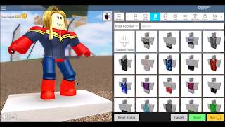 How to make Captain Marvel From MCU in Robloxian High School