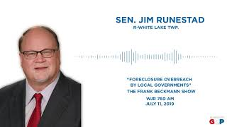 Sen. Runestad joins the Frank Beckmann Show on WJR