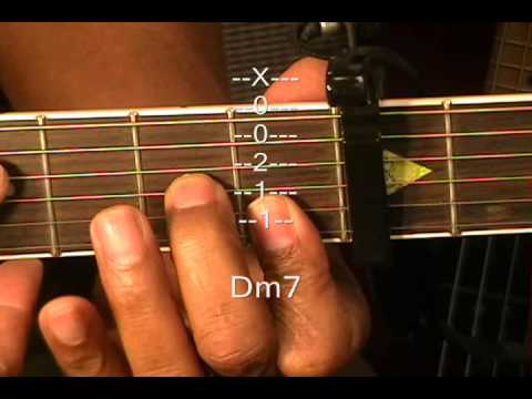 Guitar Chord Form Tutorial #37 Em7 Am7 Dm7 Fmaj7 Bb7sus4 Guitar ...
