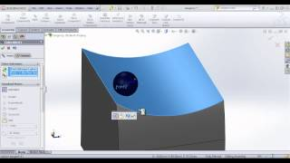 solidworks training mating a sphere to a surface