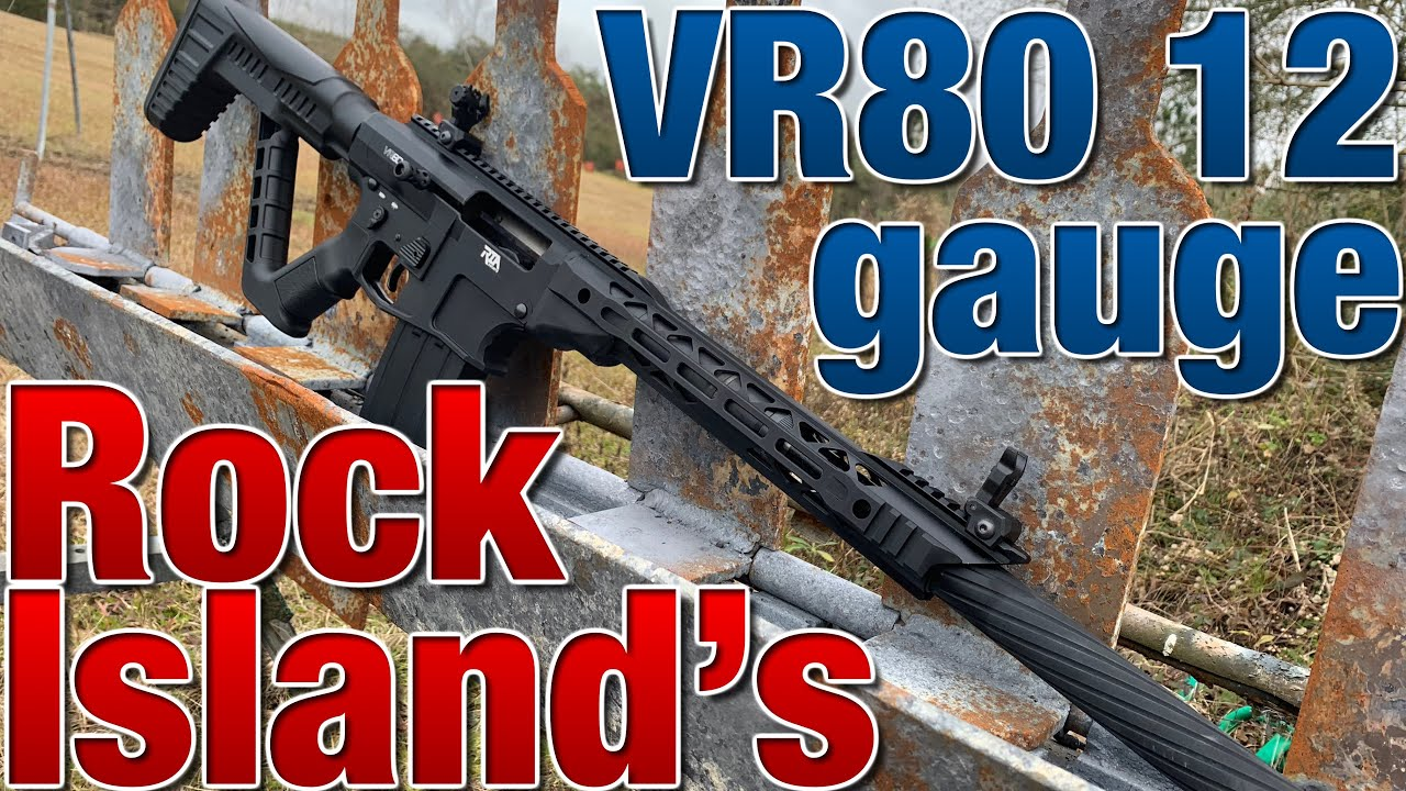 The VR80 12 gauge shotgun can rock a chicken at 50 yards!