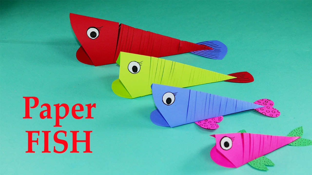 Paper Crafts For Kids Easy Paper Fish Crafts Diy Tutorial