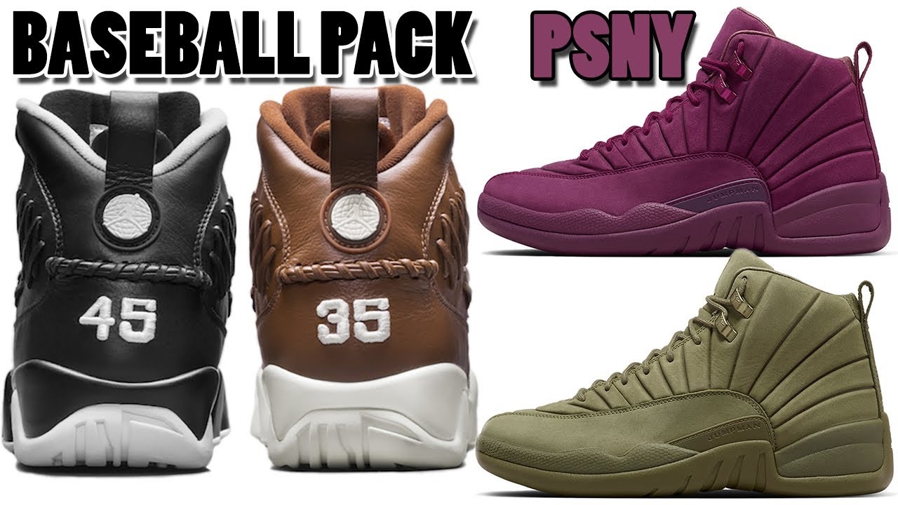 new concept faa86 95f93 Air Jordan 9 BASEBALL PINNACLE PACK RELEASE LOCATIONS, PSNY Air Jordan 12  ONLINE RELEASE and More