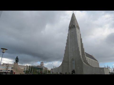 Hallgrímskirkja church - Iceland - Panoramic View of Reykjavik
