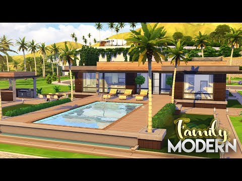 The Sims 4: SMALL MODERN FAMILY HOME + CC LINKS | Speed Build