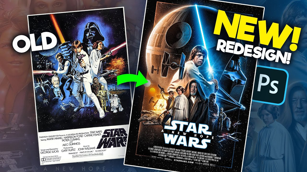 how i remade star wars a new hope s poster photoshop