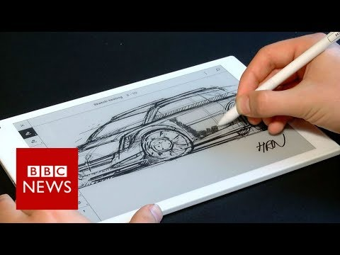 Digital notepad feels like real paper  BBC News
