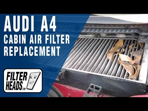 How To Replace Cabin Air Filter Audi A4 1 8t Youtube