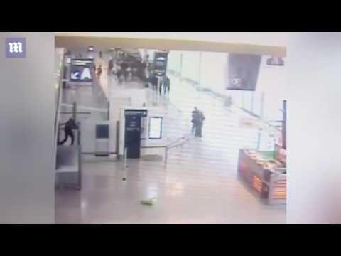 Terrorist attack in Paris Airport on camera
