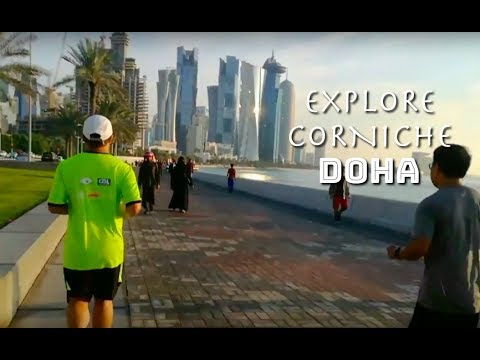 Al Corniche, Doha, Qatar - Run Walk & Exercise
