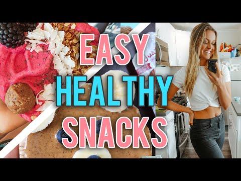 Healthy Snack Ideas (SIMPLE & EASY!!)