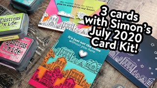 No Coloring Required! 3 Cards using the July 2020 Card Kit!