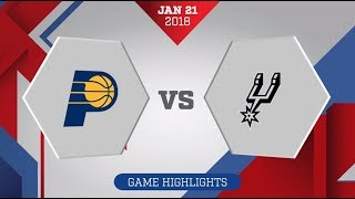 Indiana Pacers vs. San Antonio Spurs - January 21, 2018