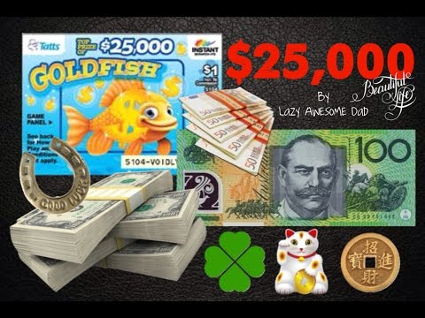 $25,000 Winnings ? $100 scratch cards lottery tickets Australia scratchies Vlog#1