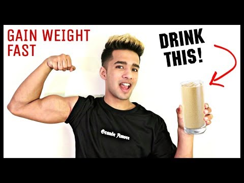 How To Gain Weight Fast Naturally | Banana And Peanut Butter Shake