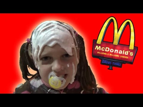 Bad Baby Real Food Fight Victoria vs Annabelle McDonald's Hidden Eggs Toy Freaks Family