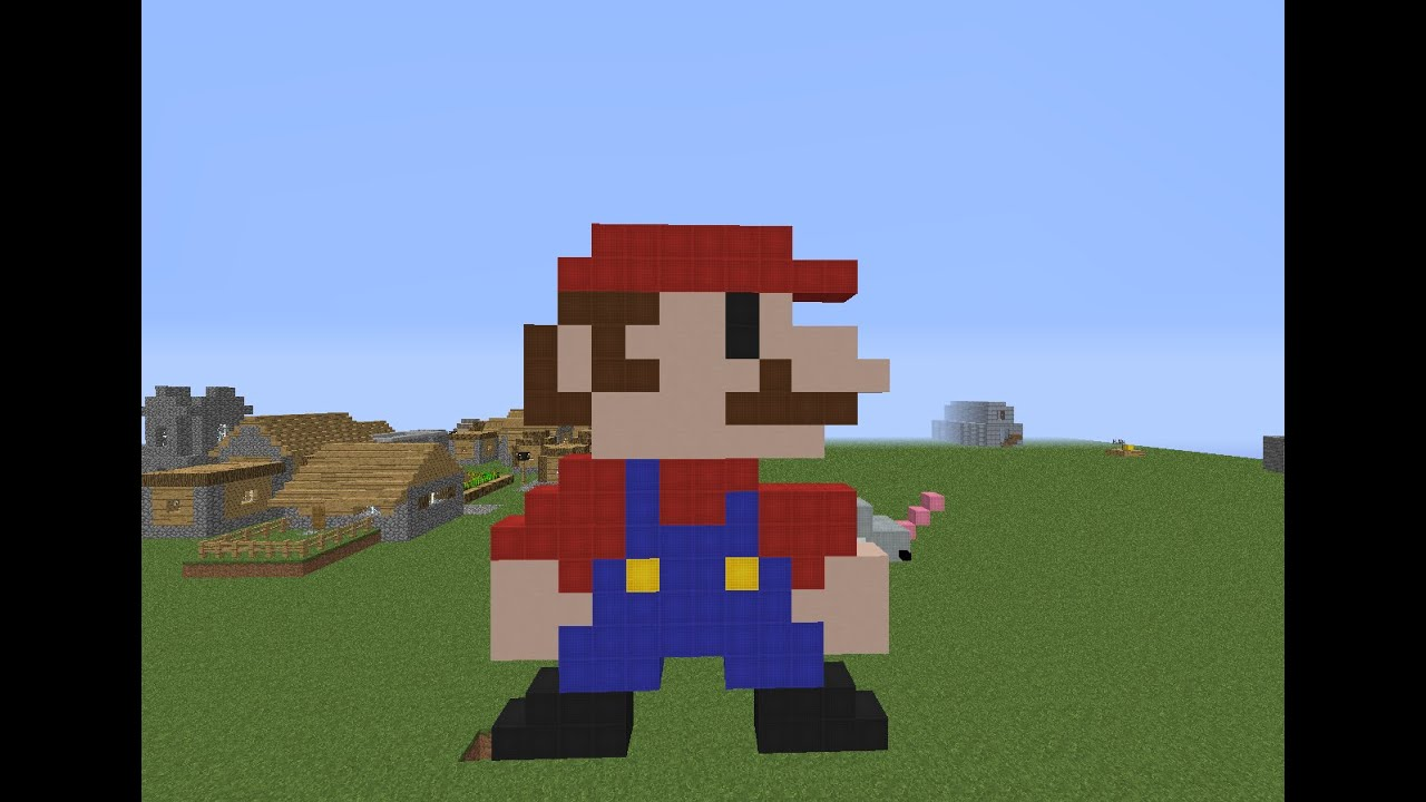 Mario Bros Pixel Art Minecraft Youtube