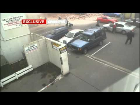 CCTV footage shows Liverpool St as quake hits Christchurch