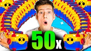 50x MEGA BOX öffnen! Legendary / STARPOWER?! • Brawl Stars deutsch