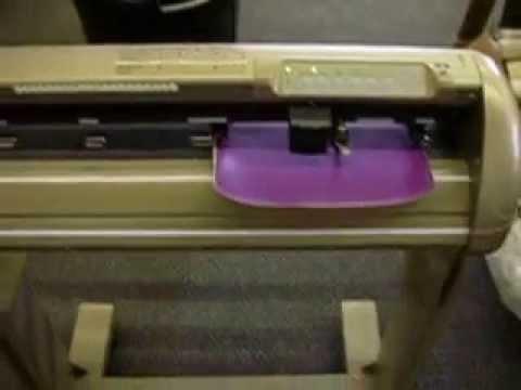 """Vinyl Cutter Software >> Vinyl Express LYNX 24"""" Vinyl Plotter Cutter Demo - YouTube"""