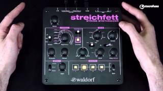 Presentación y Demo del sintetizador de cuerdas Waldorf Streichfett en MicroFusa Barcelona