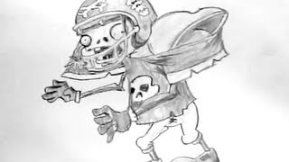 How to Draw Football Player Plants vs Zombies Characters [Reup]
