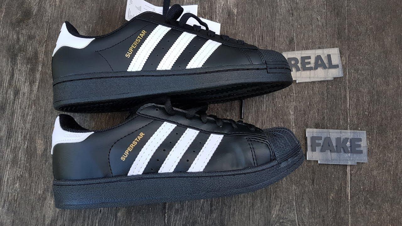 farmacia casado Álgebra  Fake vs Real Adidas Superstar Sneakers - YouTube