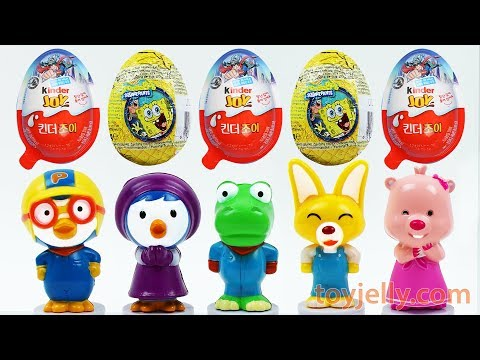 Pororo Baby Karaoke Toy Sing along Learn Colors Pocoyo Car Surprise Kinder Joy Egg Baby Finger Song