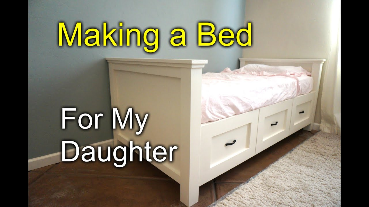 Diy Farmhouse Bed For My Daughter Youtube