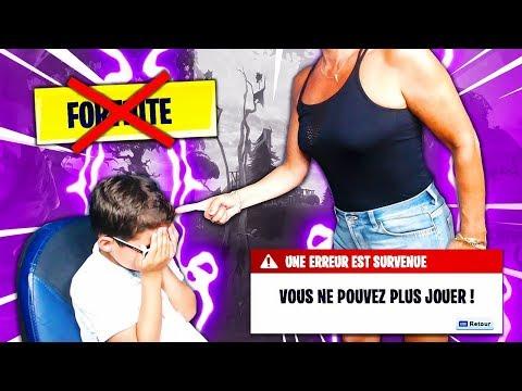 MA MÈRE INTERDIT MON PETIT FRÈRE DE JOUER À FORTNITE POUR TOUJOURS ! IL RAGE... 😪
