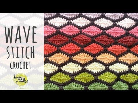 crochet wave stitch tutorial