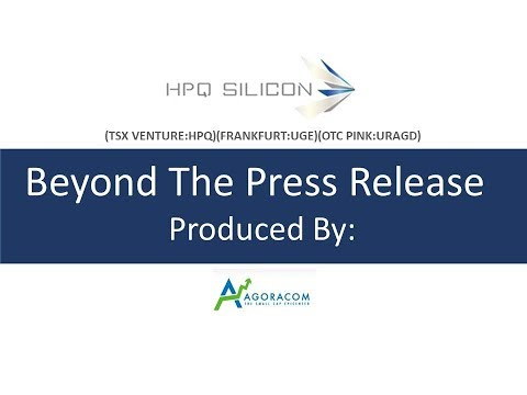 HPQ Discusses Significant Commercial Scale Up Milestones Fro