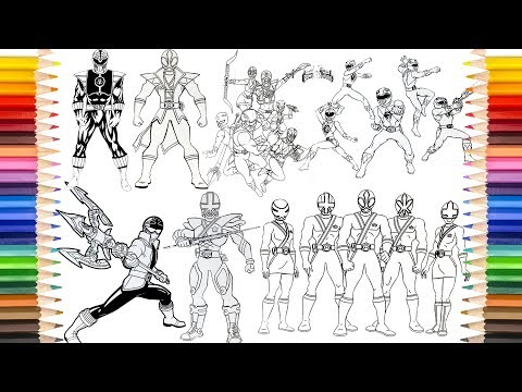 POWER RANGERS All Pages In SAILANY Coloring Kids | Power Rangers Coloring Book