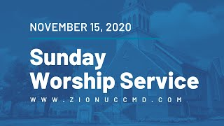 Sunday Worship Service - November 15, 2020